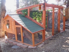 Could use this chicken coop idea for cat enclosure