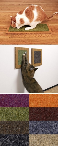 LOW PROFILE CAT SCRATCHERS FROM SQUARE CAT HABITAT
