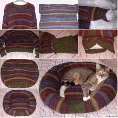 Wonderful DIY Recycled Dog and Cat Sweater