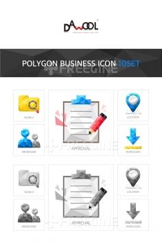 아이콘 폴리곤 비즈니스1 (yuni)