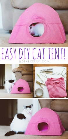 DIY Cat Tent Tutorial from Dear Crissy.