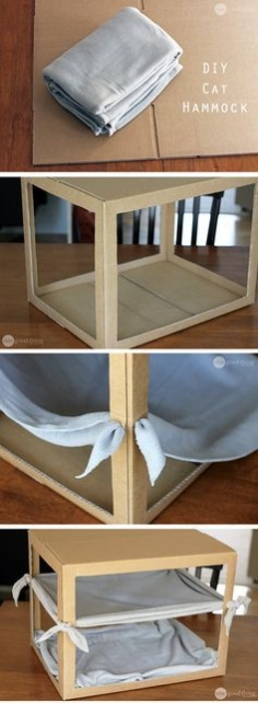 Make A Simple DIY Cat Hammock