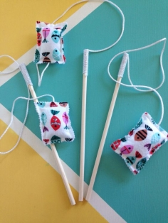 Cat wand - Cat toy - Catnip cat toys - Handmade cat toy - Cat teaser
