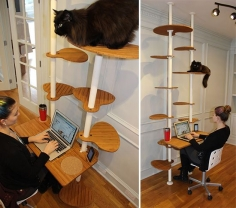 New Cat Tower Workstation Concept from DeskElements