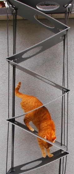 Cat ladder Germany (nice idea, award-winning concept... but how much grip does this thing provide?) | www.onlinepresse....