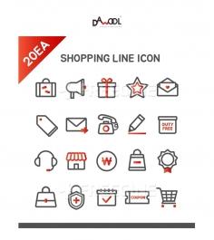 아이콘 라인 쇼핑11 (yuni)