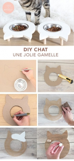 Create a cute bowl for stand your cat!